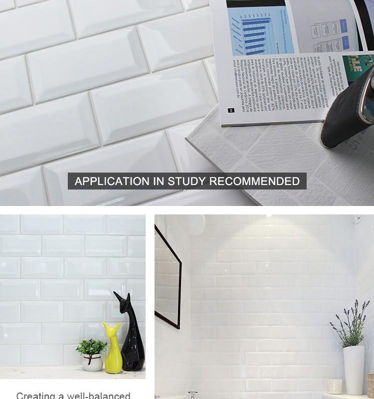 Best Selling 3x6 wit bevel keramische metro tegels front muur ...