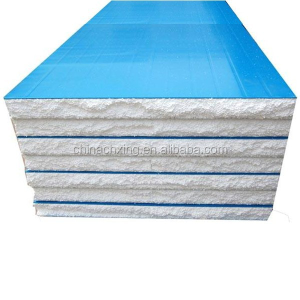 Blue Colored Steel Insulated EPS Foam Composite Roof Panel