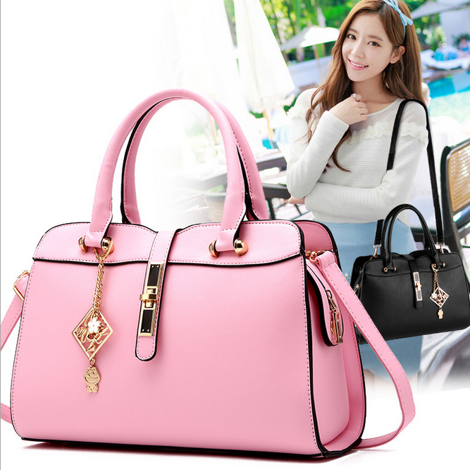 2016 alibaba china high quality PU bag glossy leather handbags , women bags china supplier tote bag