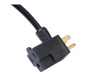 America UL approved piggack plug--three pin and two pin plug