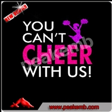 Bling Iron-on Transfer You can't Cheer with us Vinyl Transfer for Tshirts
