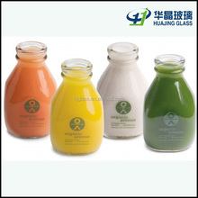 beverage industry use 473ml 16oz customized glass drink bottle for juice and milk