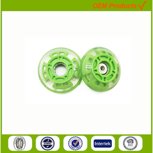80mm 4 Lights glowing ice skate roller shoes wheels
