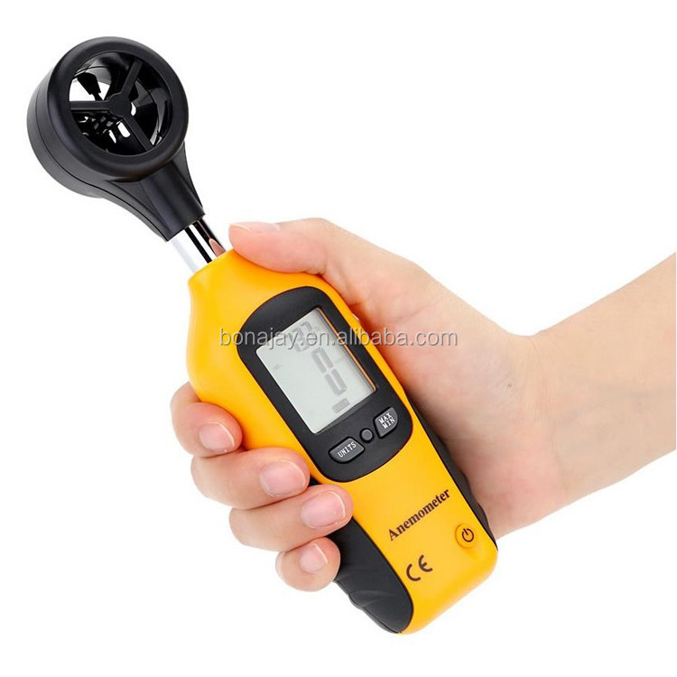 2018 anemometer HT-81 digital anemometer wind speed meter air flow meter LCD Display Velocity Temperature Measuring tacometro