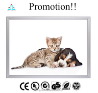 Promotion!! A0 A1 A2 A3 A4 wall mounted led slim aluminium snap frame light box display
