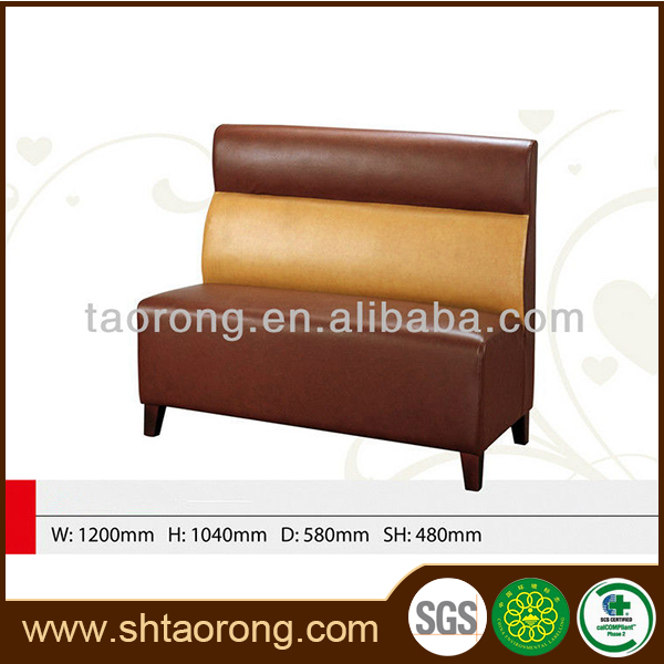 China made single side pu leather restaurant sofa booth for sale