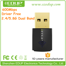 New Arrival EDUP Dual Band Wireless USB Adapter Driver Free WiFi Adapter