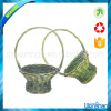 hanging wall flower wicker basket