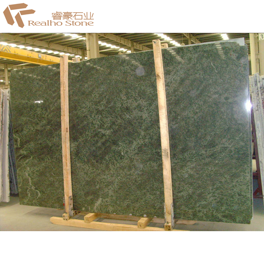 Polished Indian Tropical Green Granite Slab