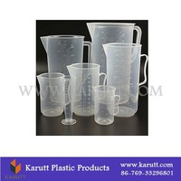 Custom plastic measuring container and cups