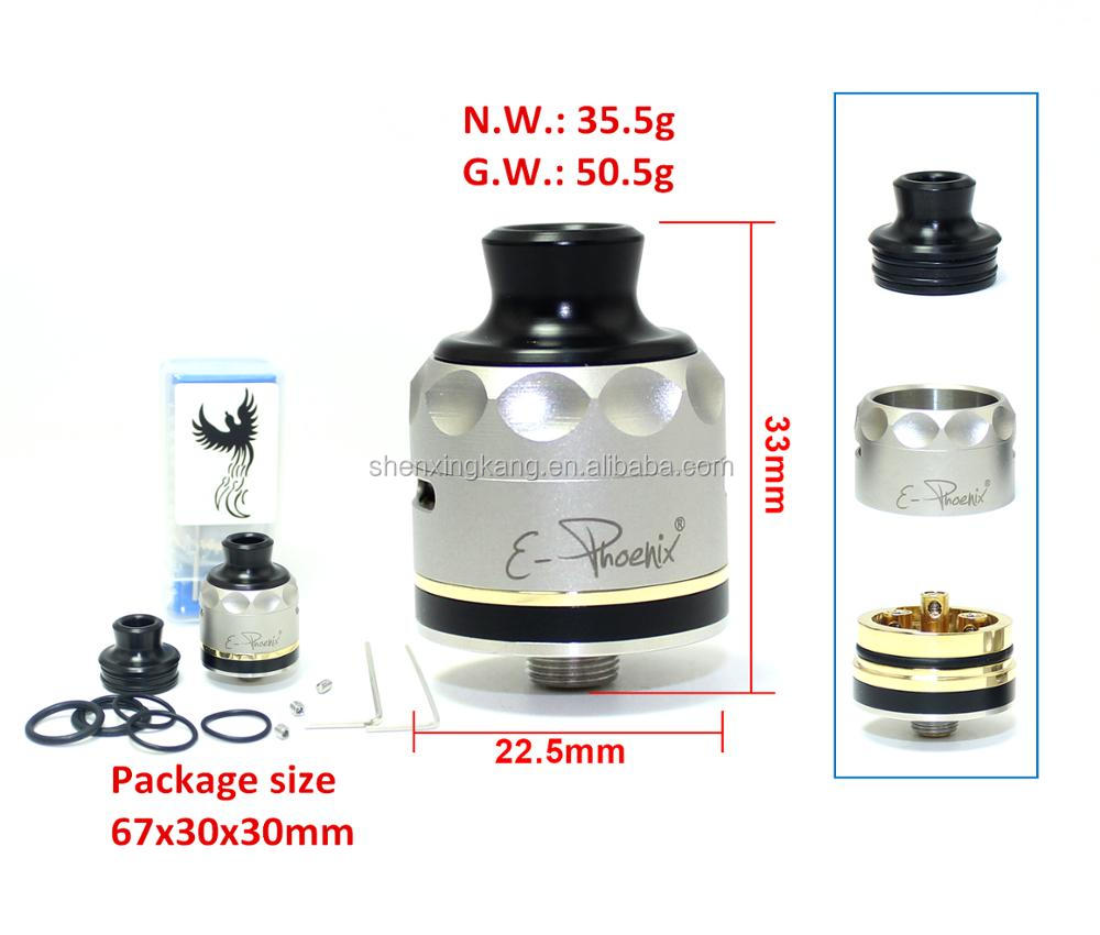 2017 sxk new 1:1 clone rda atomizer e phoenix Resurrection V2