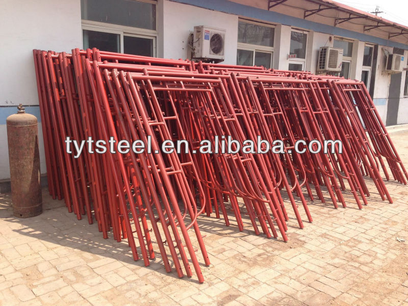 heavy duty shoring poles galvanized h frame scaffolding