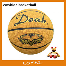 Good quality cowhide basketball leather basketball