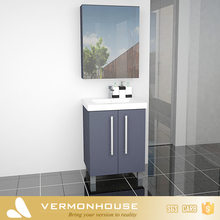 Hangzhou Vermonhouse Modern Assembled Bathroom Cabinets Free Standing Grey