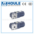 Houle low noise right angle gear reduction motor blue color high quality gear motors