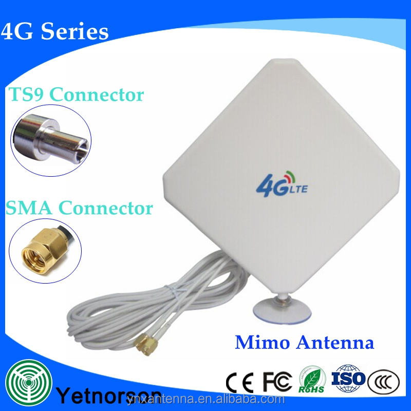 High gain 35dbi mimo antenna GSM 3G 4G antenna with 2 cable for wireless network
