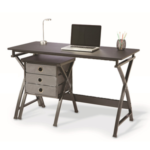 Home Executive Office Desk Computer Table With Bookshelf