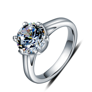 Vaccia SR049 single stone 925 sterling silver price diamond ring
