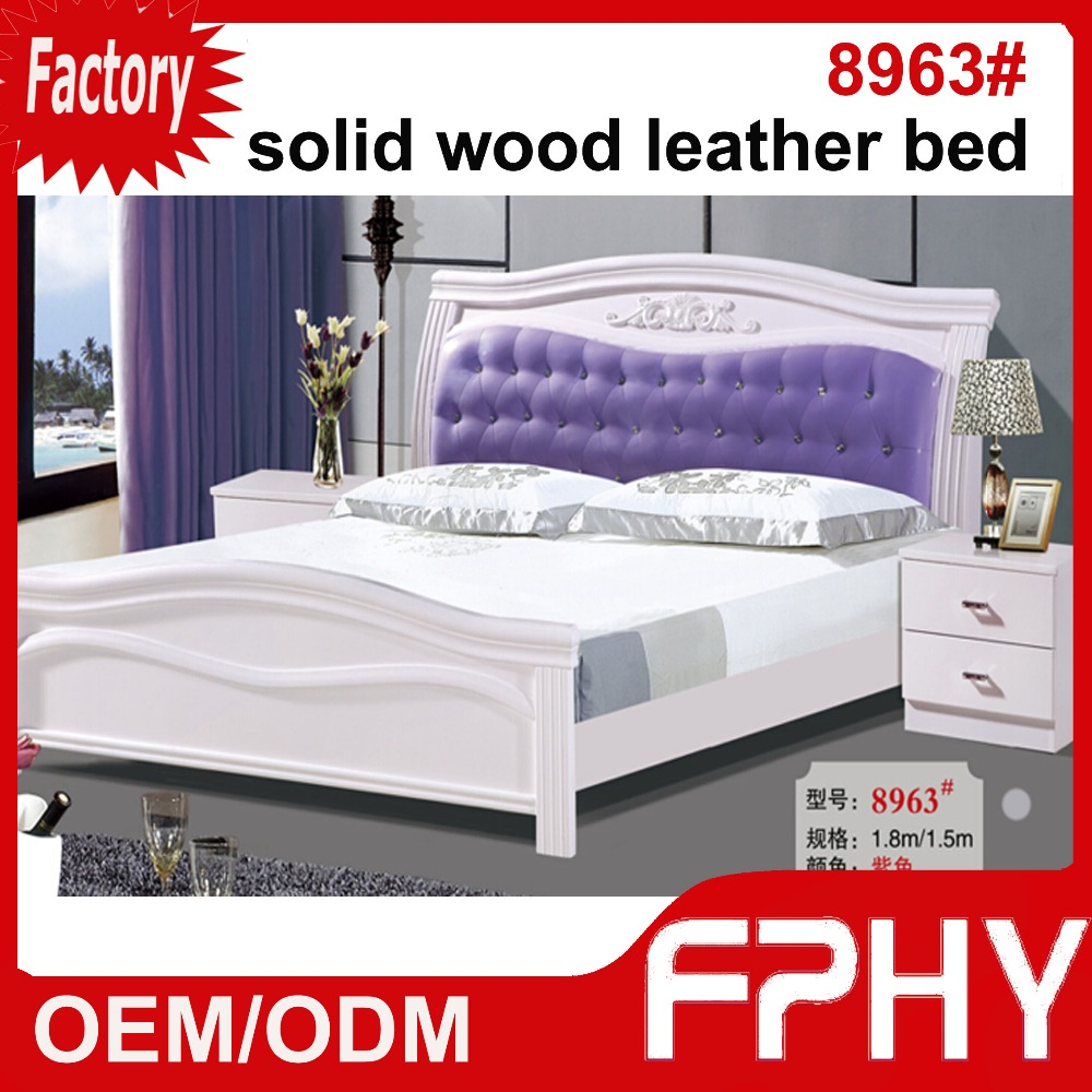 Factory Supply FPHY Solid Wood MDF panel leather 8963# adult sized car bed