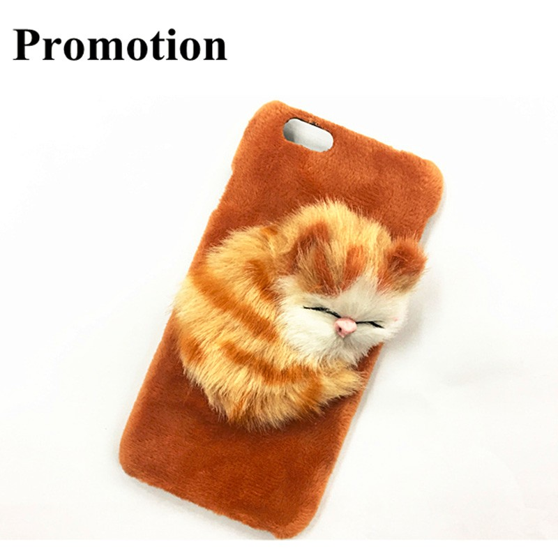 GC new design custom phone cases plush toy phone case cute phone case for iphone
