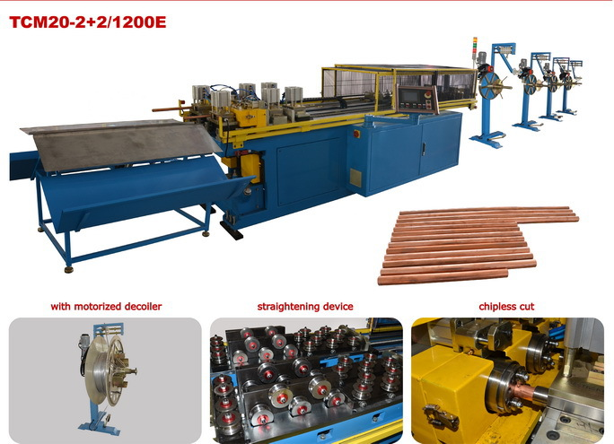 cnc automatic copper pipe straightening chipless cutting machine