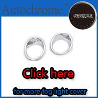 Factory price car auto exterior accessories chrome front fog light cover for Hyundai Santa Fe 2010 Up