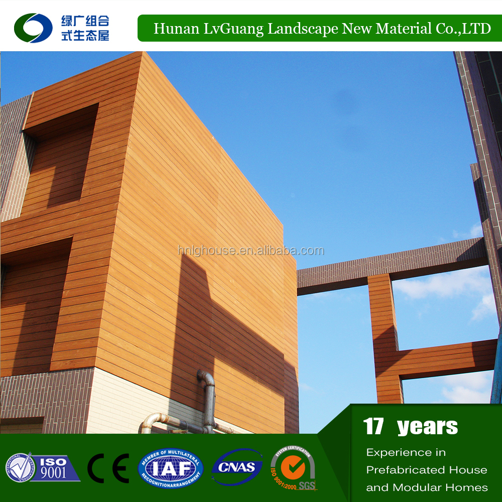 water resistance low maintenance wpc wood plastic composite exterior wall cladding