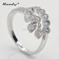 Factory Directly Sale Diamond Stretch Wedding Ring,CZ Stone Fashion Jewelry Ring