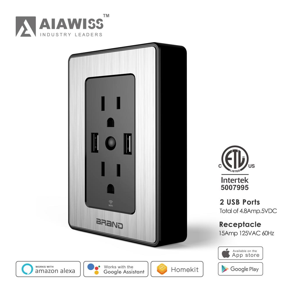 2017 New Smart Wifi,Work With Amazon Alexa Smart Plug Usb Wall ...