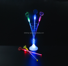 Bar tools light up swizzle sticks LED clear plastic stirrers