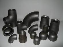 2014 Butt welding seamless/welded steel pipe fittings elbow bend tee cross reducer cap BW ASTM A234 WPB