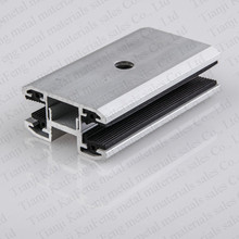 Natural anodized thin film clamps for solar panel mounting