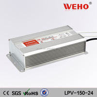 Waterproof power supply 24V 6.25A 150w constant Voltage led driver IP67