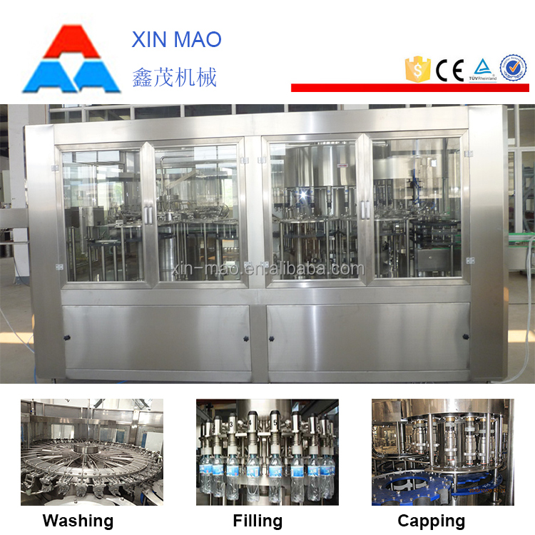 pure water filling and sealing machine, flavoured water machine, mineral water production line