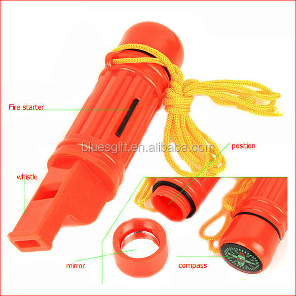 2014 outdoor 5 in 1 Survival Whistle Great for Survival Kits