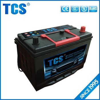 Maintenance free JIS standard auto car battery 12v 75ah