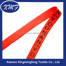silk screen printing colorful thick elastic webbing belt