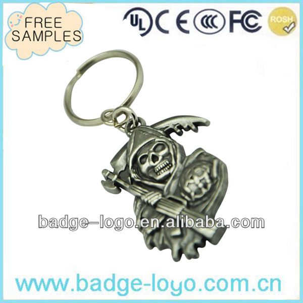 classic antique plated 3d metal key tag for gifts