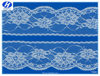 Off white color lace fabric for cloth custom design chantilly lace trim