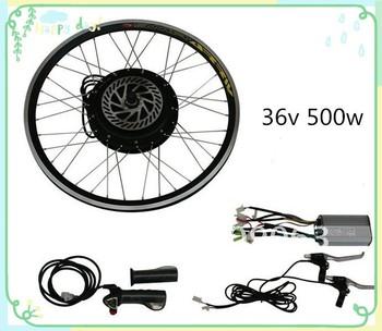36v 500w bldc hub motor rear or front ebike conversion kit for 500w hub motor kit