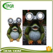 TG7778 Animal Decorative Craft Models Frog Garden Solar Lighting