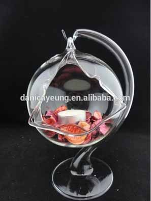 Crystal glass tea light candle holders scented jar for home decor