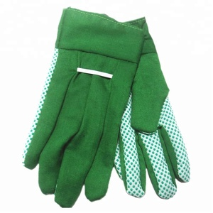 NEWSAIL Ladies cotton with PVC dotted garden working gloves