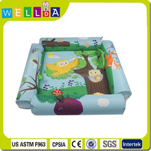 Hot sale four side foldable inflatable baby plat mat
