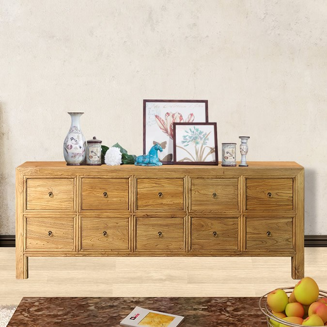 wholesale new designs rustic reclaimed wooden tv cabinet