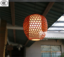 Zhongshan sell well European style lamp made of bamboo pendant light
