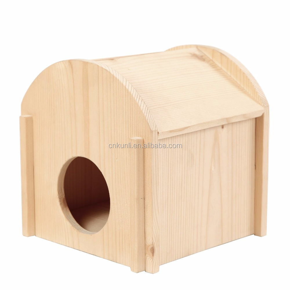 Hamster Wooden House Safe Hideout for Small Animals Hamster Gerbil Mice Home