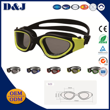 Fashion style Silicone PC Lens Mirror coating Anti fog Racing swimming goggles