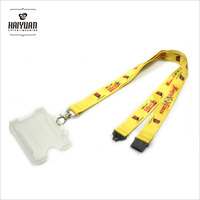cheap sublimation printing lanyard with rigid ID card holder