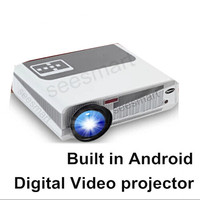 Updated !! Android 4.2.2 Wifi Portable LED Full HD 3D TV home cinema Projector,1080P Digital Video smart Proyector